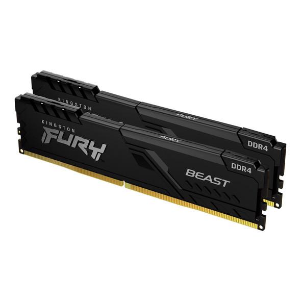 Kingston 16GB 3200MHz DDR4 CL16 DIMM (Kit of 2) FURY Beast Black (KF432C16BBK2/16) | KF432C16BBK2/16 | Rosman Computers - 2