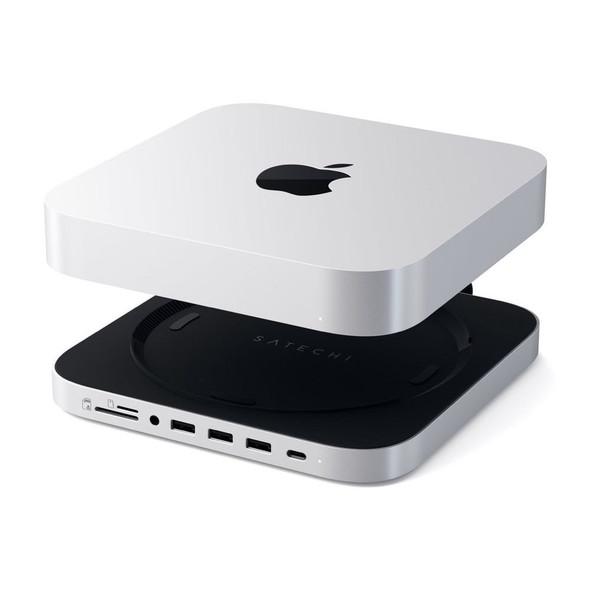 Satechi Stand & Hub for Mac Mini w/ SSD Enclosure (Silver) | ST-MMSHS | Rosman Computers - 2