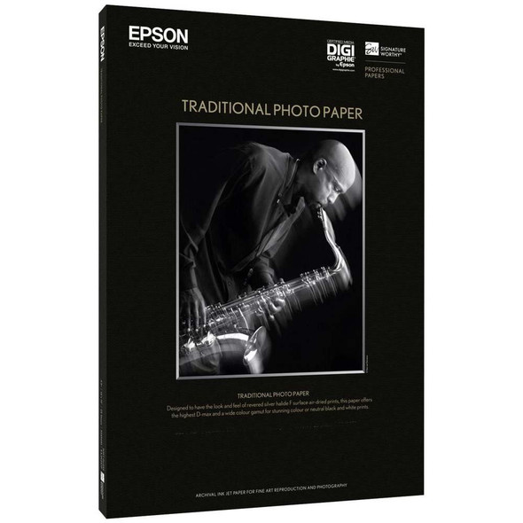 Epson Traditional Photo Paper - A4 (S045050) | S045050 | Rosman Computers - 2