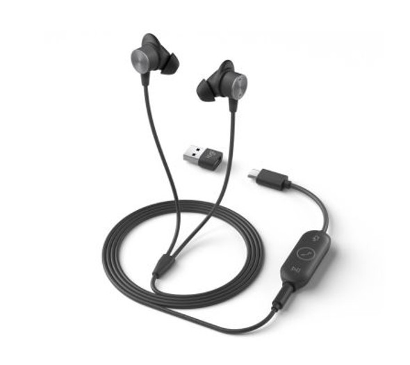 Logitech Zone Wired Earbuds (UC) (981-001095(ZONE)) | 981-001095 | Rosman Computers - 2