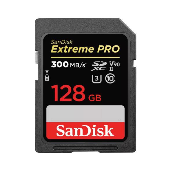 SanDisk Extreme Pro SDXC, SDXDK 128GB, V90, U3, C10, UHS-II, 300MB/s R, 260MB/s W, 4x6, Lifetime Limited (SDSDXDK-128G-GN4IN)   SDSDXDK-128G-GN4IN   Rosman Computers - 1