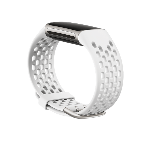 FITBT FITBIT CHARGE 5,SPORT BAND,FROST WHITE,SMALL (BNDCHAR5-SP-WHT-S(FB181SBWTS)) | FB181SBWTS | Rosman Computers - 2