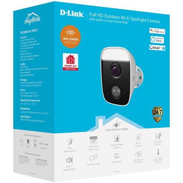 Dlink Full HD Outdoor Wi-Fi Spotlight Camera (DCS-8630LH) | DCS-8630LH | Rosman Computers - 1