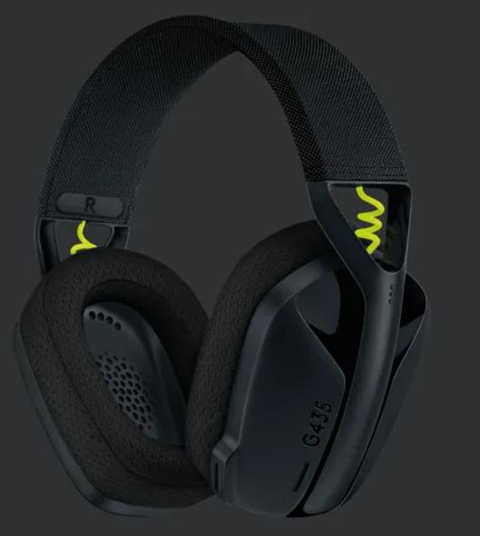 Logitech G435 LIGHTSPEED Wireless Gaming Headset Black (981-001051(G435)) | 981-001051 | Rosman Computers - 2
