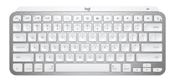 Logitech MX Keys Mini For Mac Minimalist Wireless Illuminated Keyboard Pale Grey (920-010528(MXKEYS)) | 920-010528 | Rosman Computers - 1