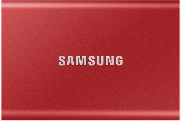Samsung Portable SSD T7, 1TB, Metallic Red, USB3.2, Type-C, R/W(Max) 1,050MB/s, Aluminium Case, 3 Years Warranty (MU-PC1T0R/WW)   MU-PC1T0R/WW   Rosman Computers - 1