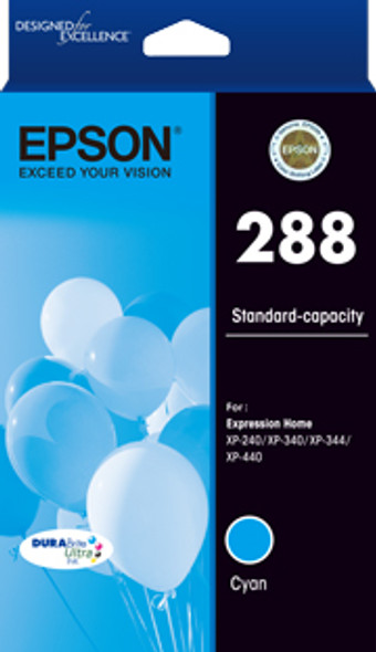 Epson 288 Std Capacity DURABrite Ultra Cyan ink, XP-240, XP-340, XP-344, XP-440 (T305292) | C13T305292 | Rosman Computers - 2
