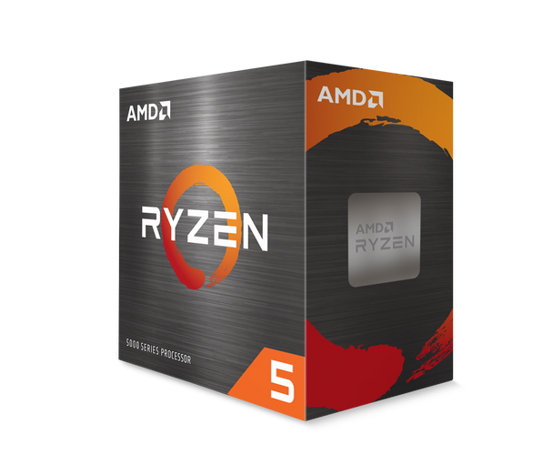 AMD Ryzen 5 5600X 6-Core/12 Threads, Max Freq 4.6GHz, 35MB Cache Socket AM4 105W, With Wraith Stealth cooler | 100-100000065BOX | Rosman Computers - 1