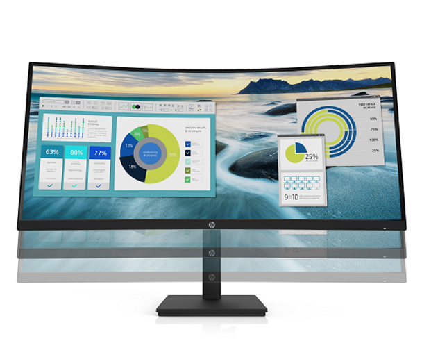 """HP P34hc G4, 34"""" WQHD CURVED, EYE EASE, 21:9, 3440x1440, USB-C (65W PD), DP+HDMI, SPEAKERS, Tilt, Height, USB, 3 Yrs (replaces E344c 6GJ95AA)   21Y56AA   Rosman Computers - 2"""