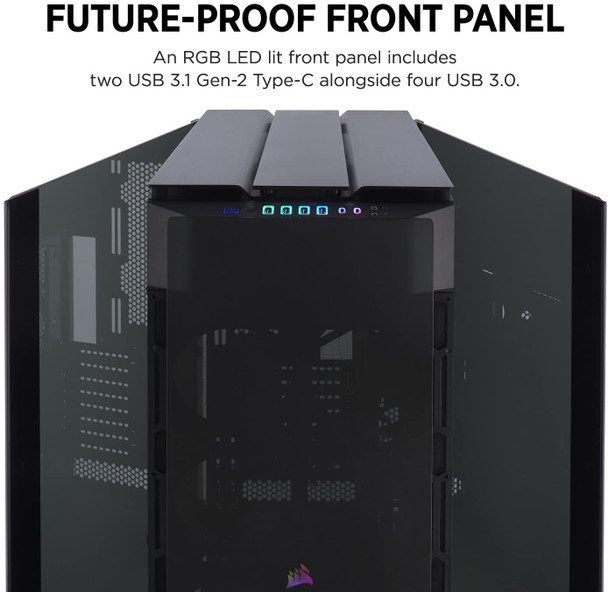 25Kg+ Freight Rate-CORSAIR Obsidian Series 1000D Super Tower Case, Premium Tempered Glass and Aluminum Smart Case   CC-9011148-WW   Rosman Computers - 1