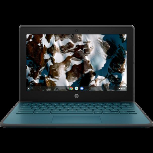 "HP Chromebook 11 EE G9, 11.6"" HD, Celeron N4500, 4GB, 32GB eMMC, Chrome64, Nautical Teal, 1Yr RTB Warranty   408H6PA   Rosman Computers - 1"