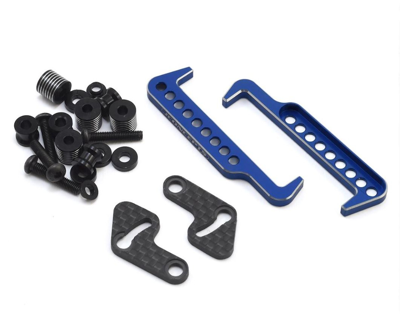 JConcepts 2604-1 Swing Operated Battery Retainer Set (B6.1/SC6.1/T6.1) (Blue)