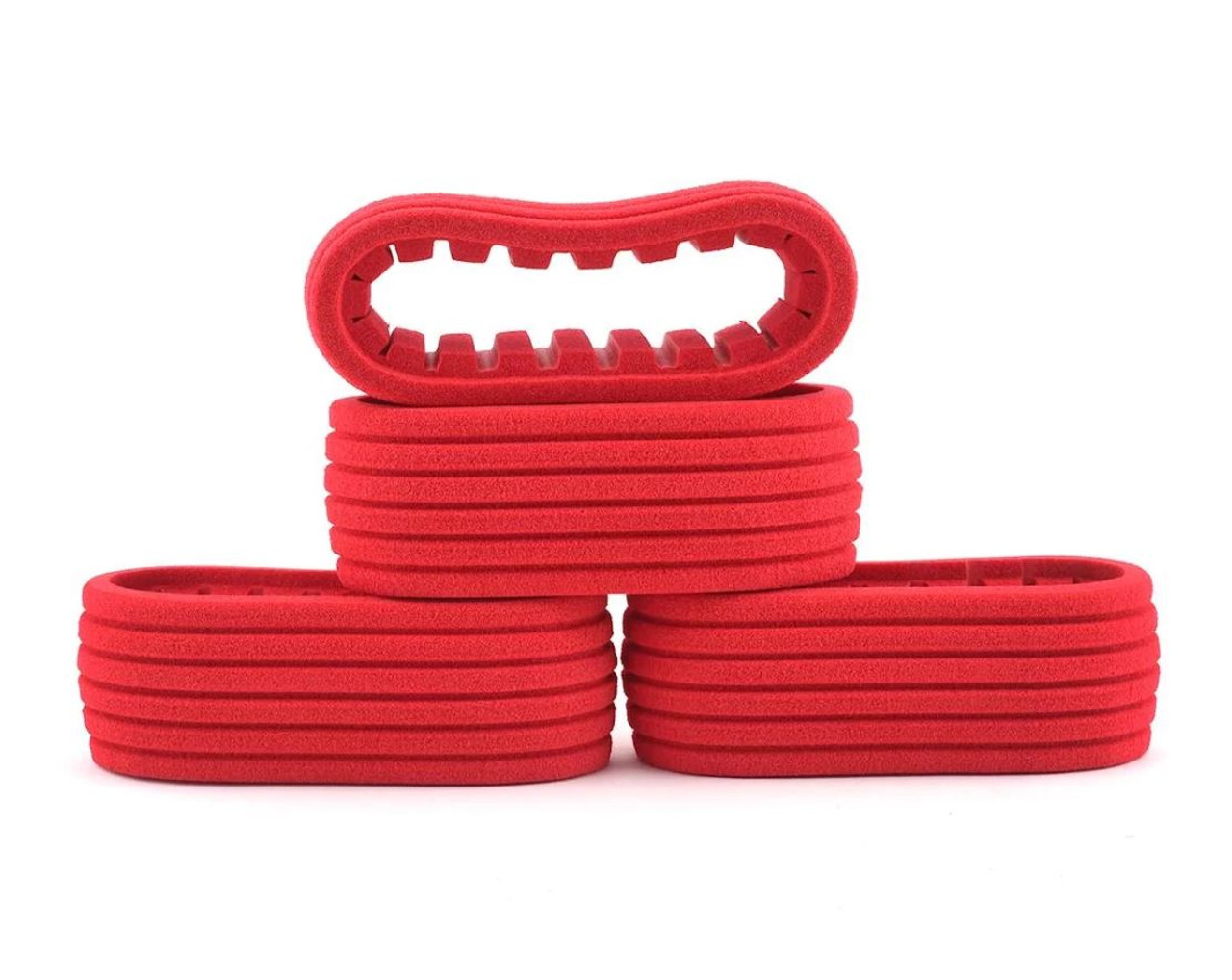 DE Racing DER-ISC-CCR Short Course 2.2/3.0 Closed Cell Inserts (Red) (4)