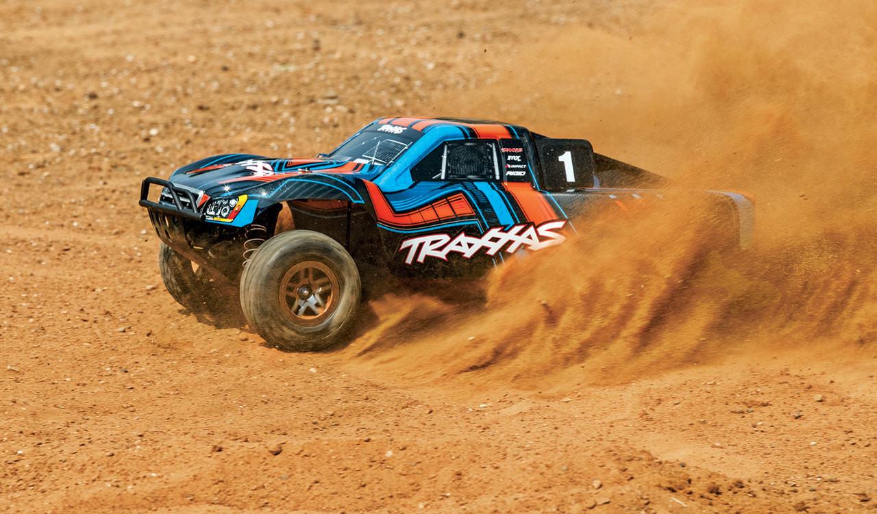 Traxxas Slash 4X4 Ultimate RTR 4WD Short Course Truck w/ TSM and TQi 2 4GHz  Radio (Orange)