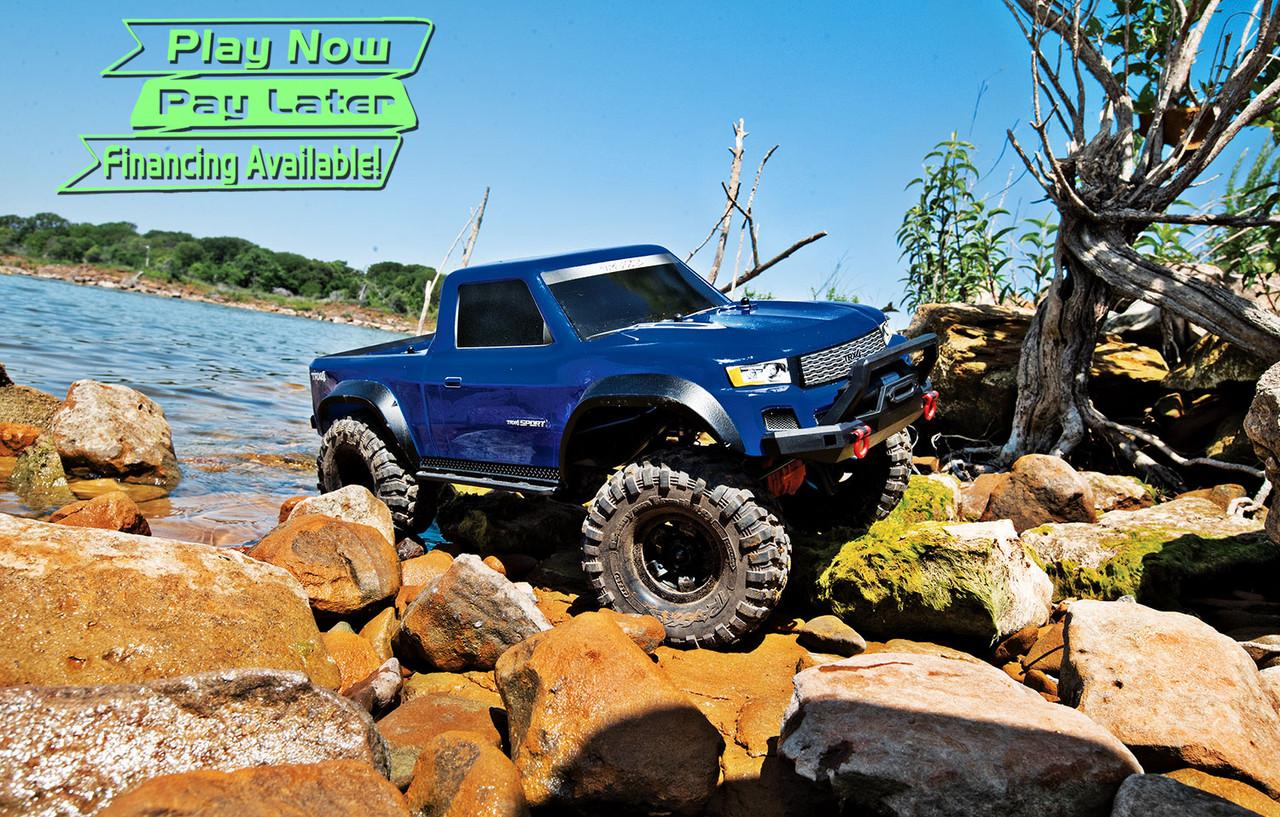 Traxxas TRX-4 Sport 1/10 Scale Trail Rock Crawler w/XL-5 ESC & TQi 2 4GHz  Radio (Blue)