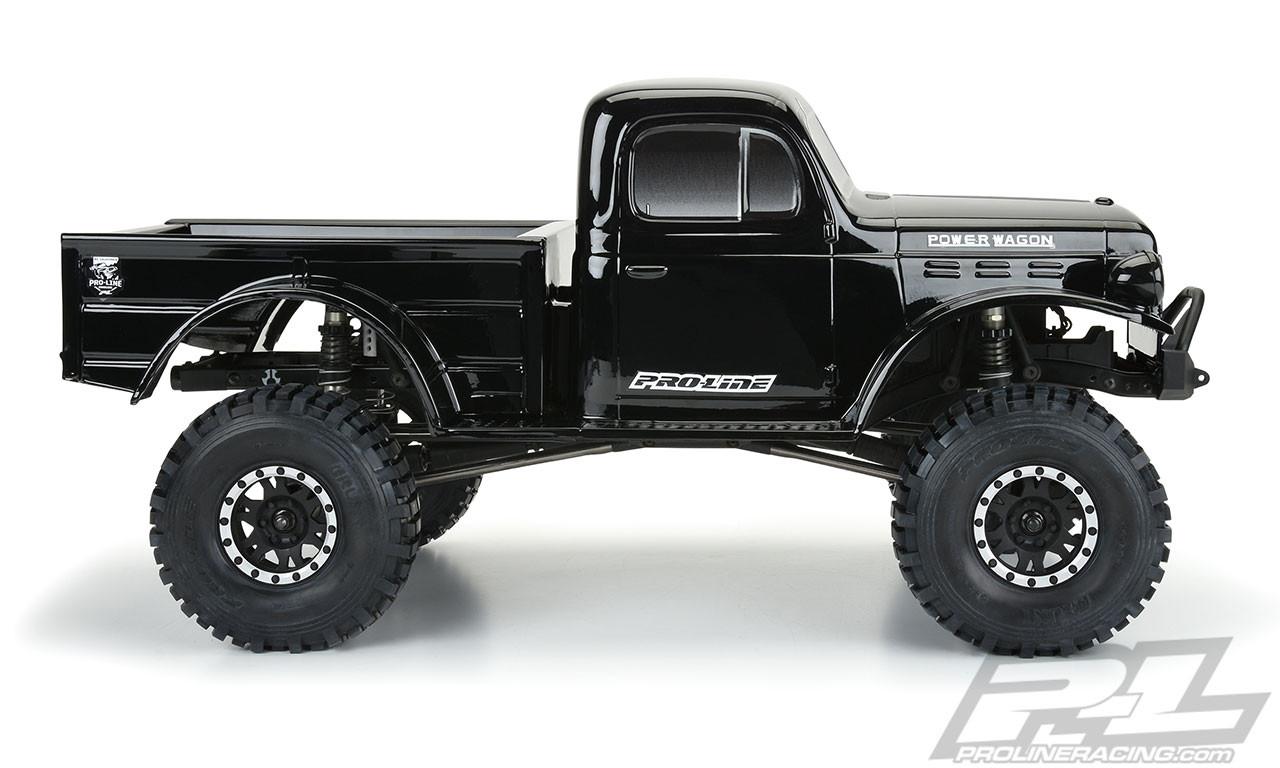 Pro Line 3499 18 1946 Dodge Power Wagon 12 3 Tough Color Rock Crawler Body Black Pro349918