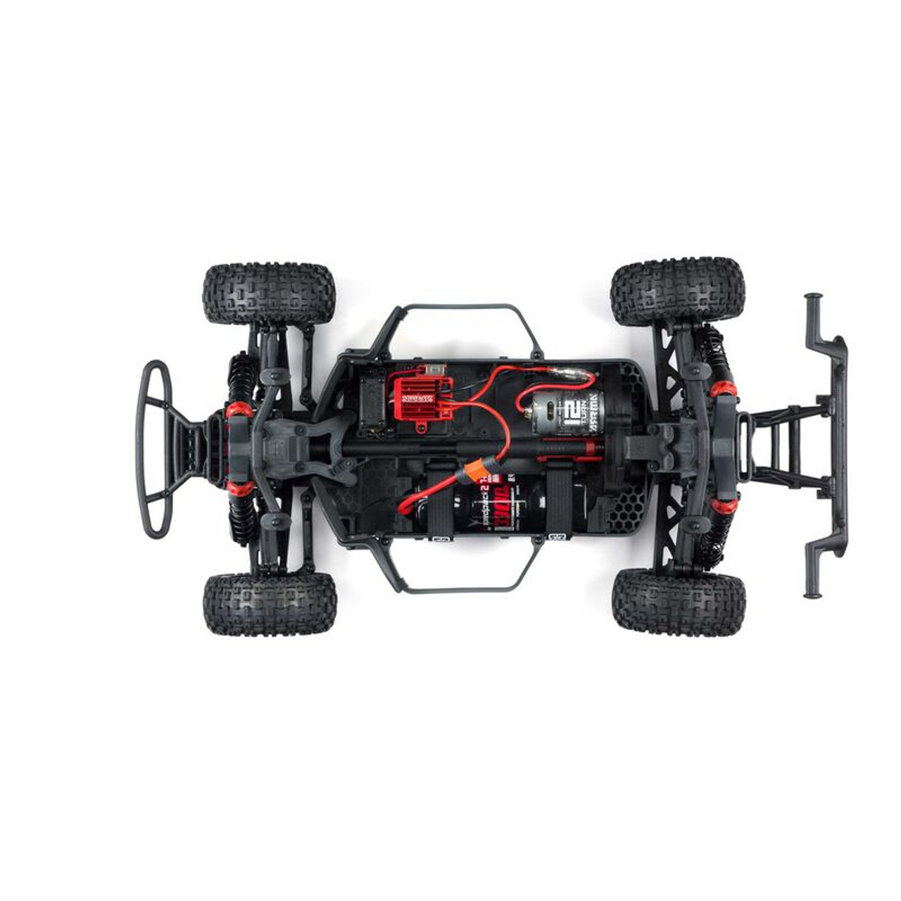 Arrma Senton 4x4 V3 550 Mega RTR 1/10 Short Course Truck (Red) w/ Spektrum SLT3 2.4GHz Radio
