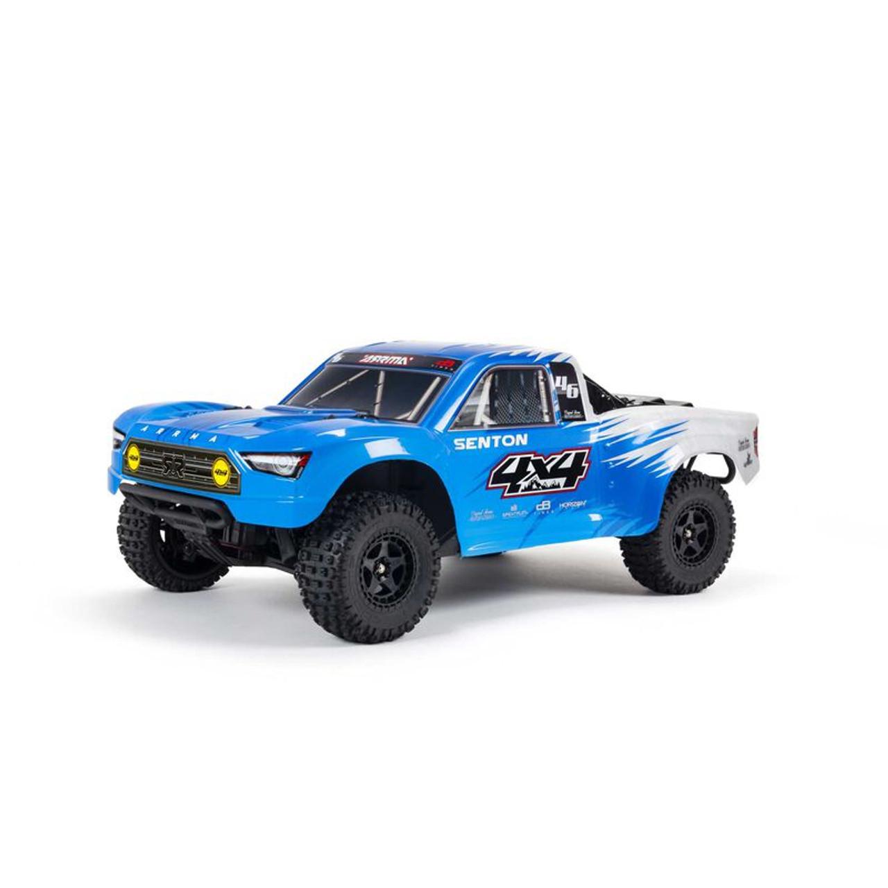 Arrma Senton 4x4 V3 550 Mega RTR 1/10 Short Course Truck (Blue) w/ Spektrum SLT3 2.4GHz Radio