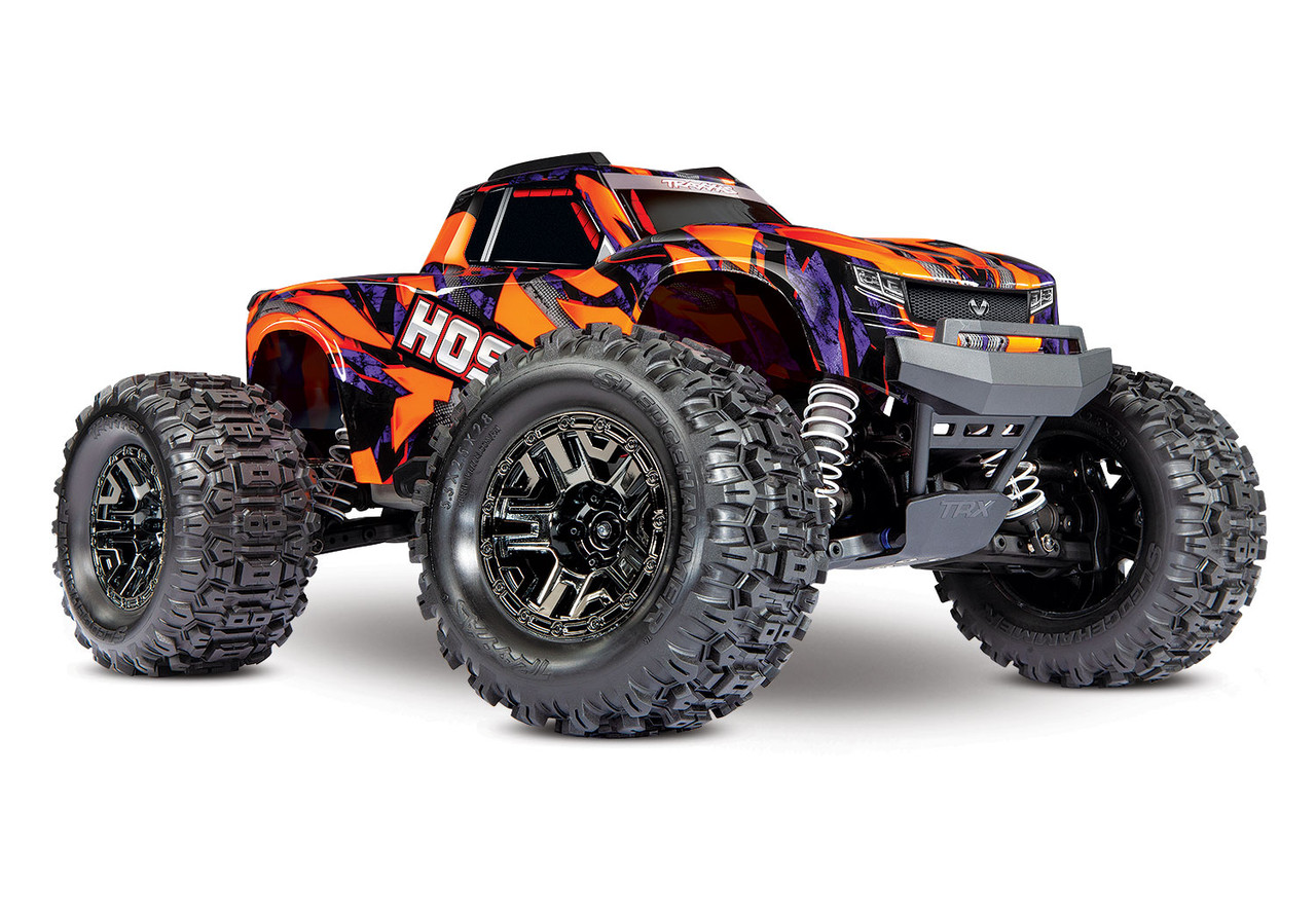 Traxxas Hoss 4X4 VXL 1/10 Scale Monster Truck W/ TQi Traxxas Link Enabled 2.4Ghz Radio System & TSM (Orange)