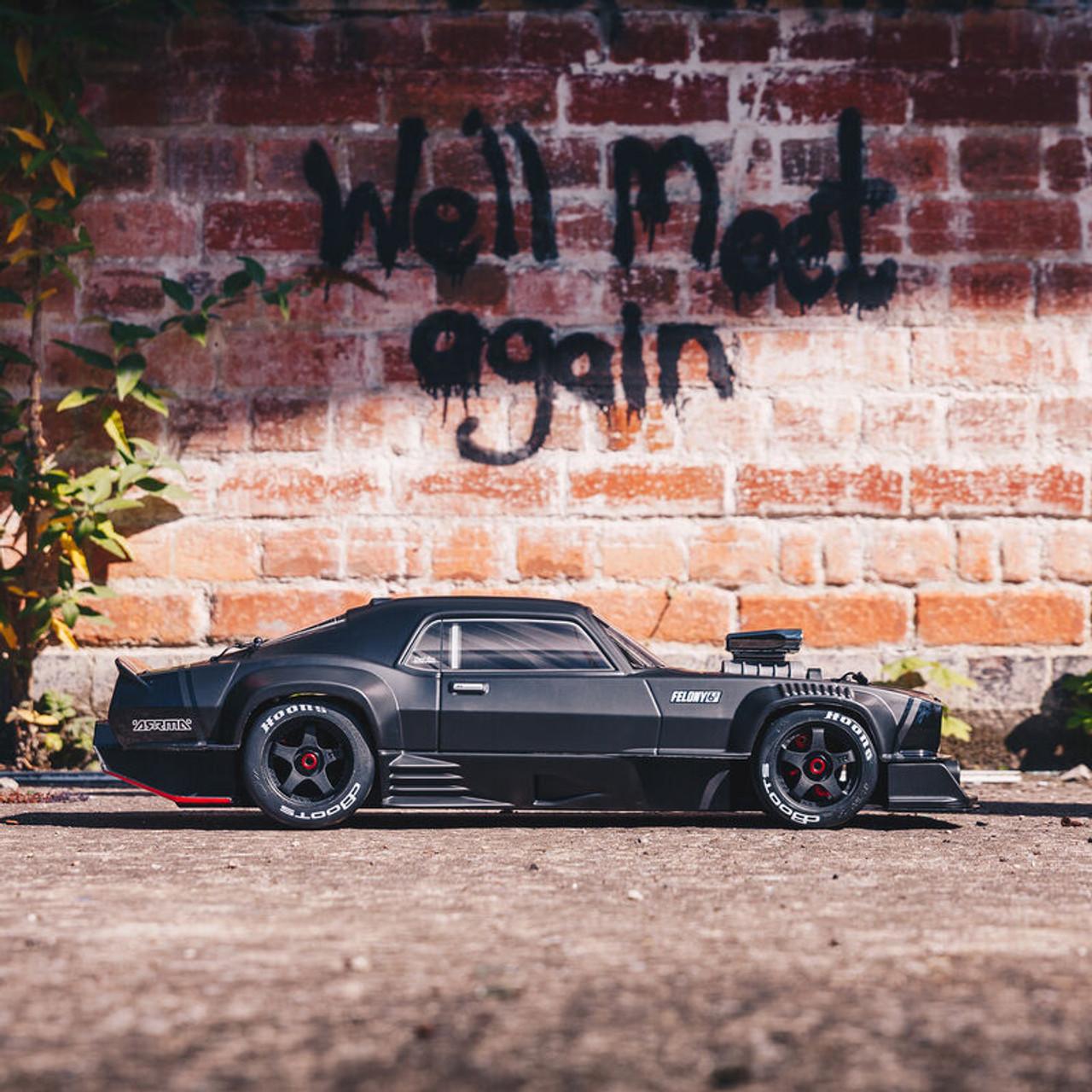 Arrma Felony Resto Mod 6S BLX Street Bash 1/7 4WD RTR, Black