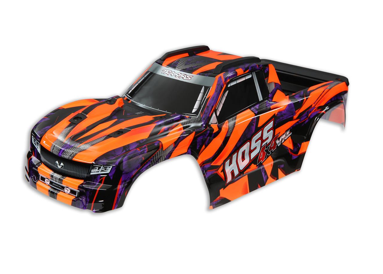 Traxxas 9011A Body, Hoss 4x4 VXL, Orange