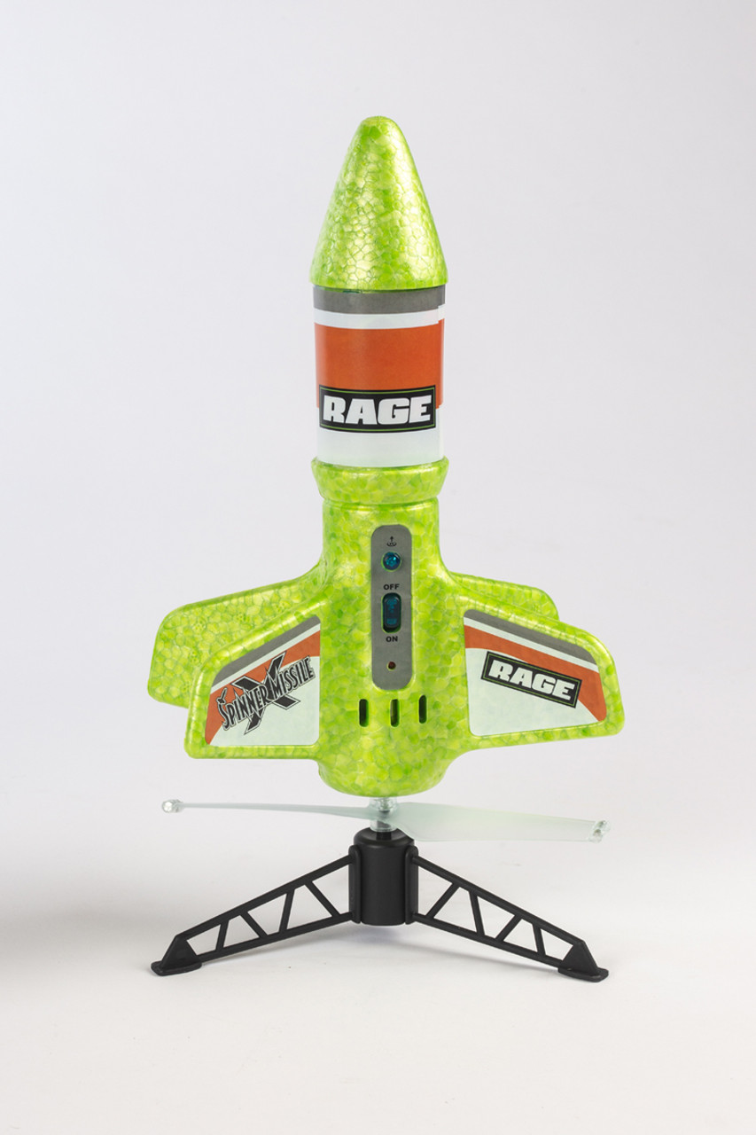 Rage RC Spinner Missile X Green Electric Free-Flight Rocket