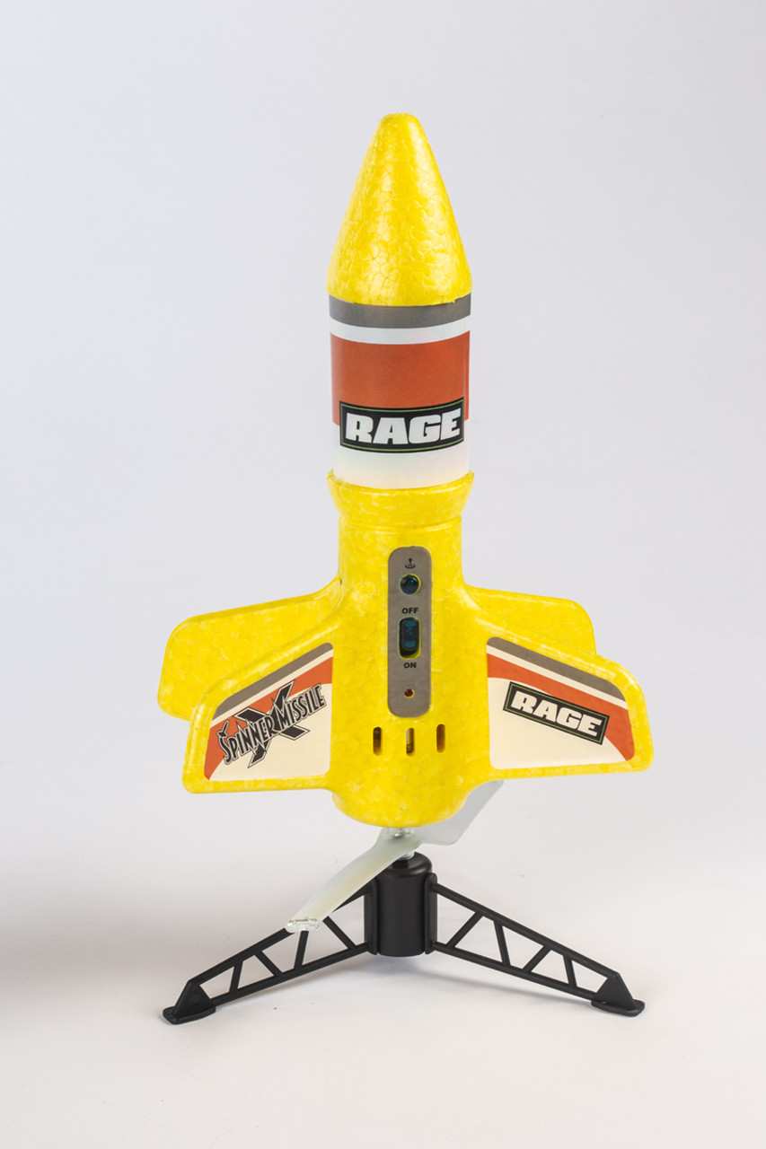 Rage RC Spinner Missile X Yellow Electric Free-Flight Rocket