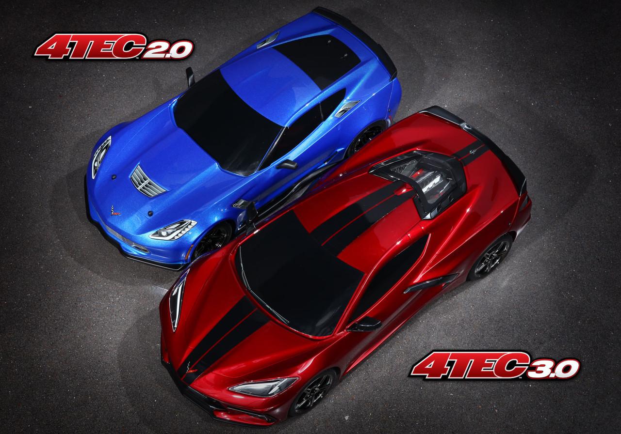 Traxxas 4-Tec 3.0 1/10 RTR Touring Car w/Corvette Stingray Body (Silver) & TQ 2.4GHz Radio System