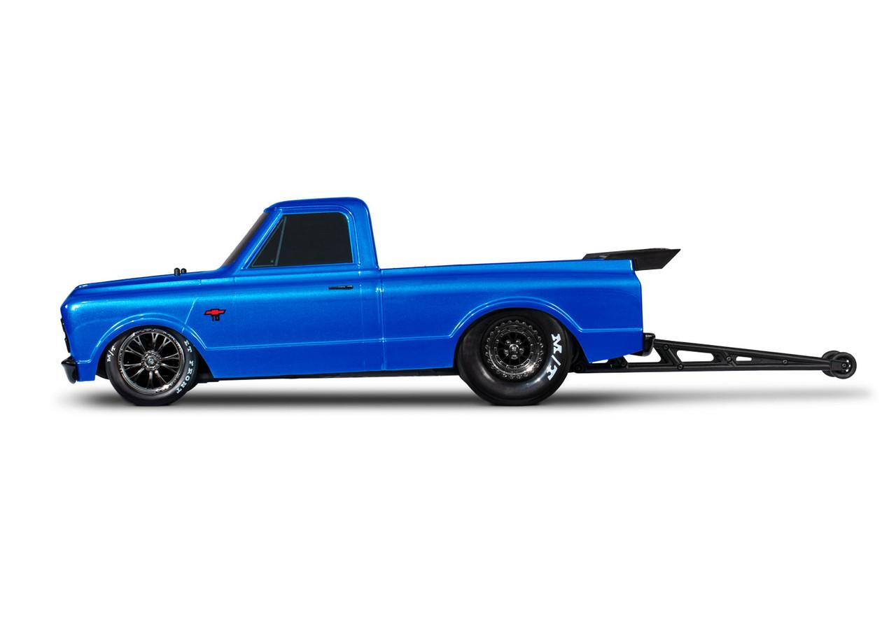 Traxxas Drag Slash 1/10 2WD RTR No Prep Truck w/1967 Chevrolet C10 Body w/TQi 2.4GHz Radio & TSM, Brillant Blue