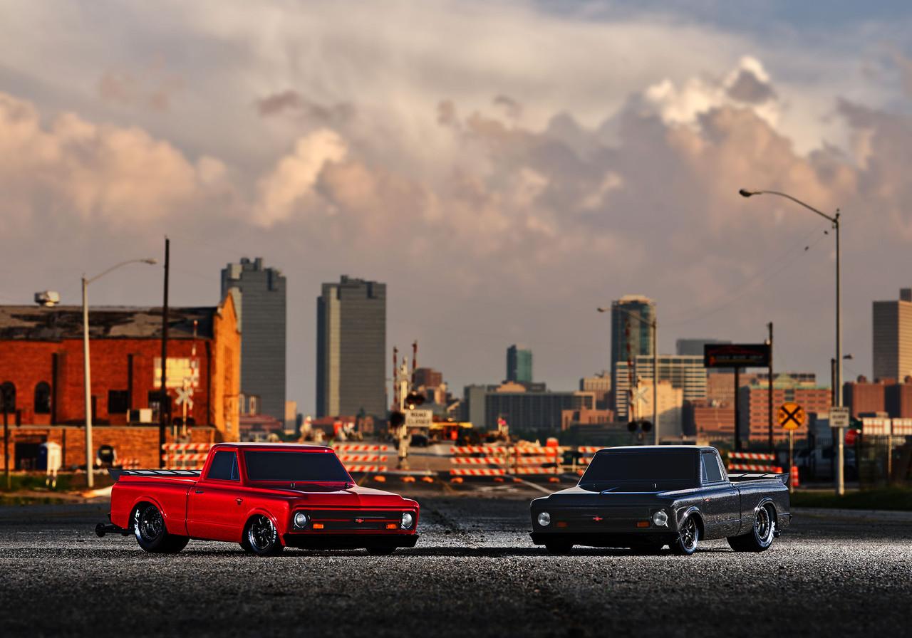 Traxxas Drag Slash 1/10 2WD RTR No Prep Truck w/1967 Chevrolet C10 Body w/TQi 2.4GHz Radio & TSM, Redline