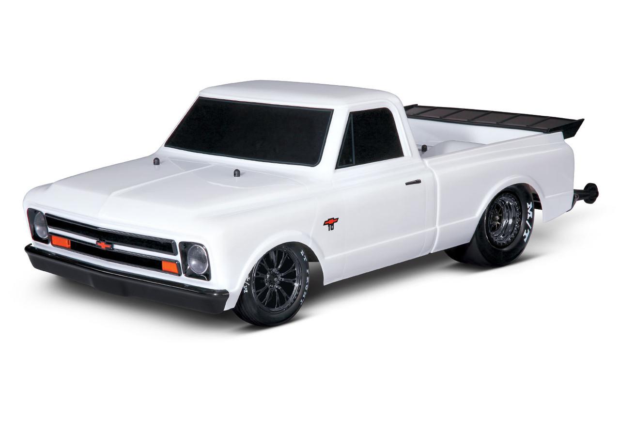 Traxxas Drag Slash 1/10 2WD RTR No Prep Truck w/1967 Chevrolet C10 Body w/TQi 2.4GHz Radio & TSM, Diamond White