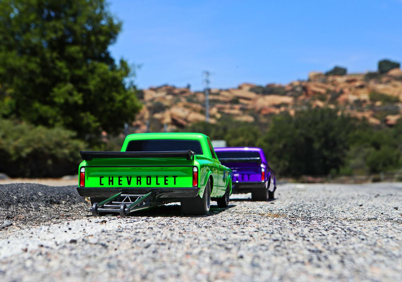Traxxas Drag Slash 1/10 2WD RTR No Prep Truck w/1967 Chevrolet C10 Body w/TQi 2.4GHz Radio & TSM, Green Machine