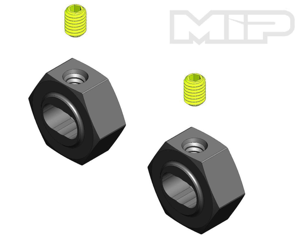 MIP 12140 12mm X-DUTY Keyed CVD Hex Adapter Set 2