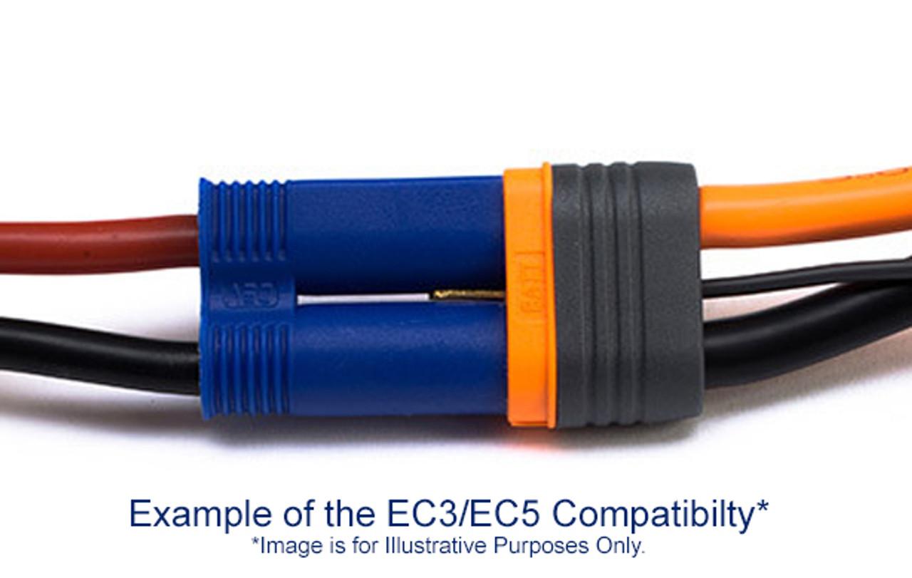 SPMXCA502 Spektrum RC IC5 Device /& Battery Connector 1 Male /& 1 Female