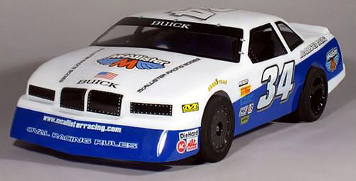 McAllister Racing #125 1/10 '80s Buick Regal Street Stock Body w/ Decal
