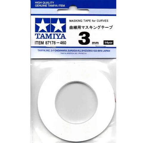 Tamiya 87178 Masking Tape for Curves (3mm)