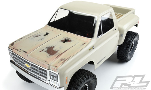 "Pro-Line 3522-00 1978 Chevy K-10 12.3"" Rock Crawler Body (Clear) w/ Cab and Bed"
