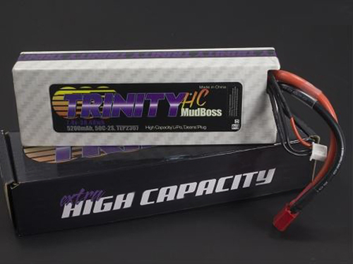 Team Trinity 2s 7.4V 5200mah HC Mudboss Pack with T-Plug (Deans)