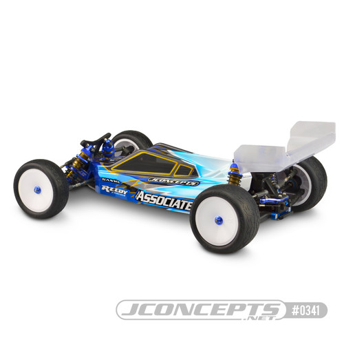 "JConcepts 0341 ""P2"" High-Speed Body w/6.5"" Aero Wing (Clear) B6/B6D"