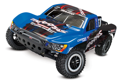 Traxxas Slash VXL 2WD Brushless 1/10 RTR Short Course Truck w/TQi, TSM (Blue)