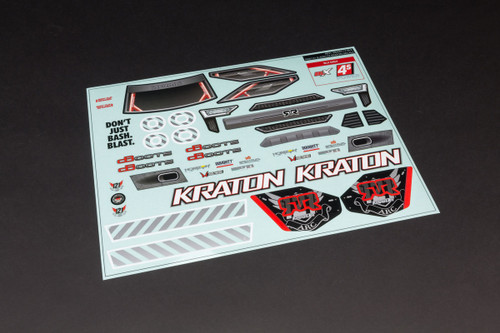 Arrma 402213 Clear Body with Decals Kraton 1/10 4x4 4S BLX