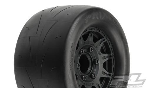 "Pro-Line Prime 2.8"" Pre-Mounted w/Raid Rear Wheels (Black) (M2) w/ Removable 12mm Hex (2)"
