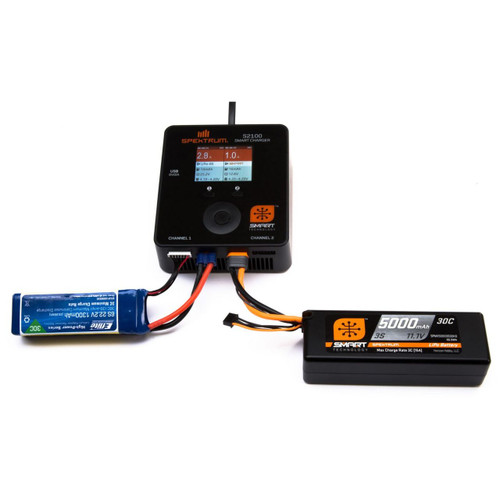 Spektrum 2S 100C Smart LiPo Hard Case Battery Pack w/IC5 Connector 7.4V/5000mAh