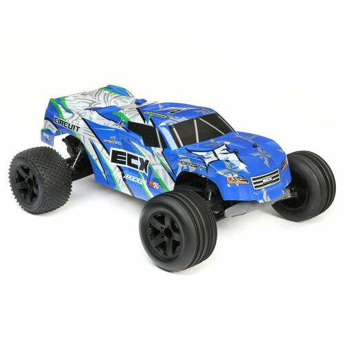 ECX 1/10 Circuit 2WD Stadium Truck Brushed RTR (Blue/White)