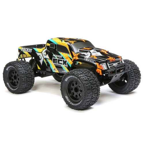 ECX 1/10 Ruckus 2WD Monster Truck Brushed RTR (Black/Yellow)