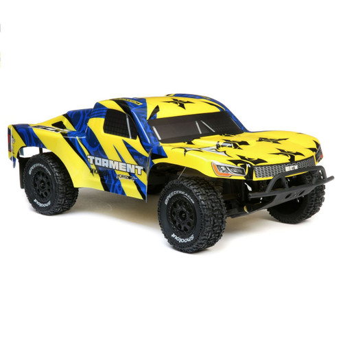 ECX 1/10 Torment 2WD SCT Brushed RTR, No Battery/Charger (Yellow/Blue)