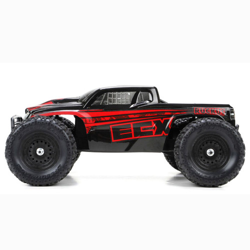 ECX 1:18 Ruckus 4WD Monster Truck RTR (Black/Red)