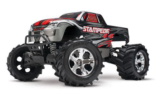 Traxxas Stampede 4X4 LCG 1/10 RTR Monster Truck w/XL-5 ESC, TQ 2.4GHz, Battery & Charger (Silver)