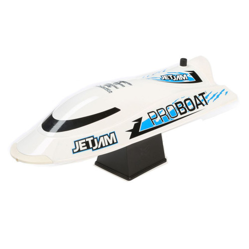 Pro Boat Jet Jam 12 Inch Pool Racer RTR Electric Boat w/ 2.4GHz Radio, Battery and Charger (White)