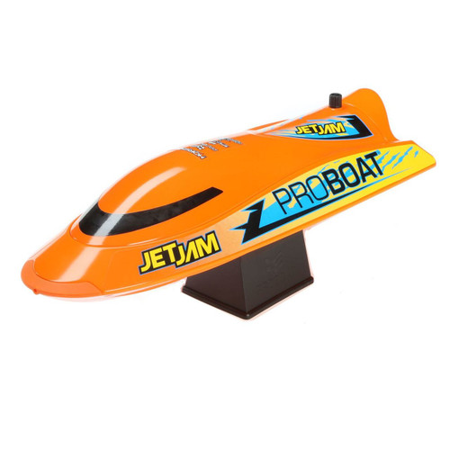 Pro Boat Jet Jam 12 Inch Pool Racer RTR Electric Boat w/ 2.4GHz Radio, Battery and Charger (Orange)